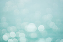 Turquoise Blur Bokeh Water Empty Teal Background Concept For Modern Eco Spring Banner, Mint Green Christian Card, Retro Bio Green. Vintage Pastel Blue Color Cyan Shade Wallpaper.