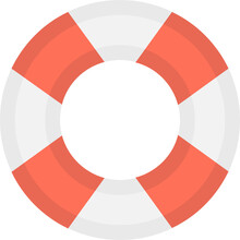 Lifering Flat Vector Icon