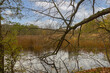 canvas print picture - LOEWENSTEIN, GERMANY - Nov 08, 2020: Small lake in autumn
