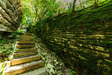 Stone And Wooden Stairs In Mys...