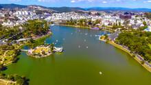 Aerial View Of A Da Lat City W...