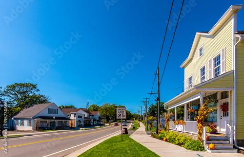 Fototapeta Historical Long Grove Town view in Illinois State obraz