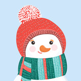 Fototapeta Dinusie - snowman icon isolated on background