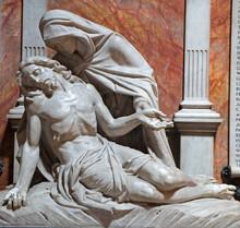 London - The Statue Of Pieta From Church St. Philip Neri
