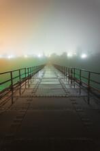 Bridge With Fog At Night