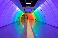 Multicolored Subway Corridor