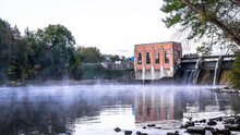 The Cascade Dam In Ada, Michigan Is A Beautiful Place To Visit And A Good Stop For Photogrpahs.
