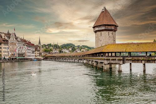 Foto Lucerne under dramatic sky, Switzerland