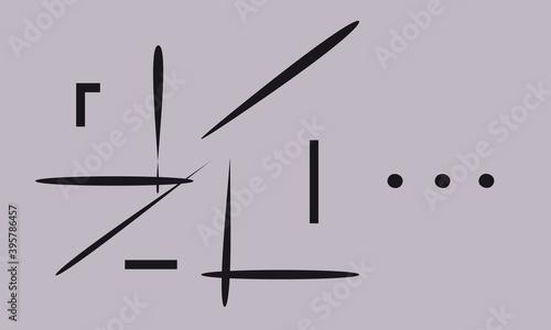 Slika na platnu Dots, abstract clock