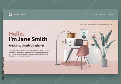 Freelance Graphic Designer Website Landing Page Template