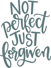 Not Perfect Just Forgiven Logo...