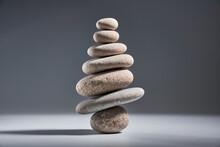 Balancing Pyramid Of Sea Pebbl...
