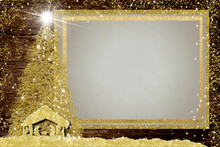 Christmas Nativity  Empty Picture Frame Greetings Cards.