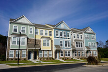 Row Of Multicolored Townhouses