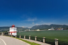 VANCOUVER, BRITISH COLUMBIA, CANADA, MAY 31, 2019: The Brockton Point Lighthouse In Stanley Park, Vancouver, BC.