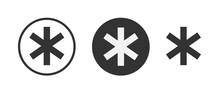 Asterisk Icon Symbol Vector Il...