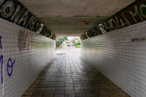 Túnel para acceder al otro lado de la carretera. Wallpaper Mural