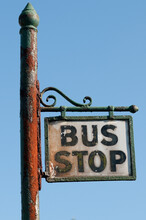 Old Bus Stop Sign