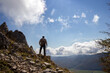 hiker on the top of a mountain in matese park