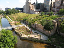 The Mill City Museum. Mill City Museum Is A Minnesota Historical Society Museum On The Banks Of The Mississippi River.