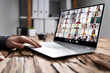 Virtual Online Videoconference Meeting Chat