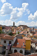 Panoramic view of Satriano di Lucania, a village in the mountains of the Basilicata region, Italy.