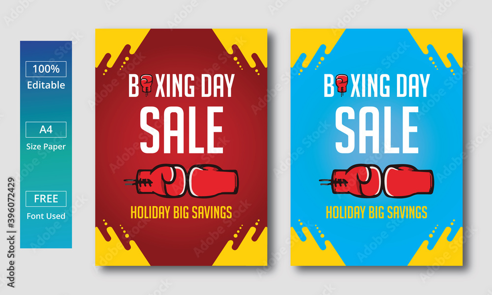 Fototapeta Shopping Discount Boxing Day sale template. a set of colorful labels.