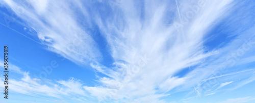 Obraz White clouds against blue sky background - fototapety do salonu