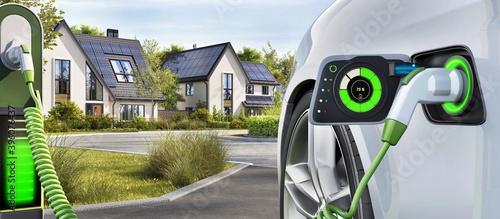 Fotografia, Obraz Electric car charging stations