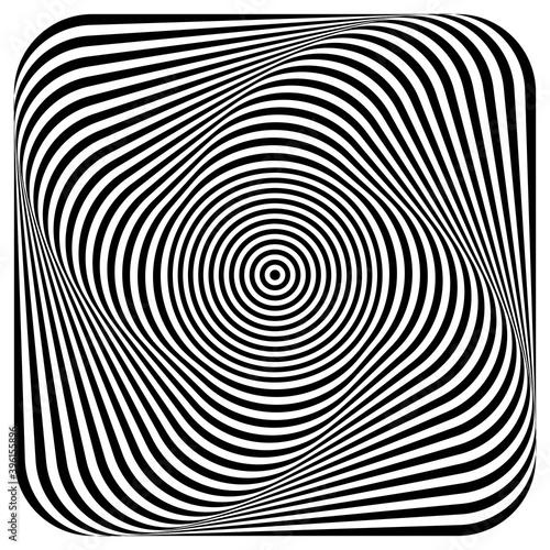 Fototapeta premium Abstract illusion of 3D whirl movement.
