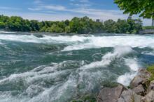 Niagara River, Niagara Fall USA. Powerful Strong Current O The Niagara River