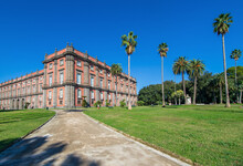 Naples, Italy - Built In 1742, And Located On The Top Of The Capidimonte District, The Palace Of Capodimonte Is A Fine Example Of Bourbon Palazzo, And One Of The Main Landmarks In Naples