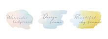 水彩のブラシ・ストロークセット/イラスト/背景/フレーム/カラフル/飾り/装飾