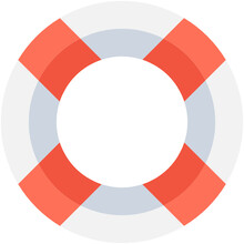 Life Ring Flat Vector Icon