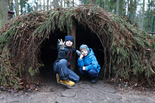 Brothers In Fir Hut