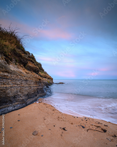 Fototapety, obrazy: Cliff and Beach at Iron Scars, on the shoreline at Howick on the Northumberland coast, AONB, where there are several sandy coves
