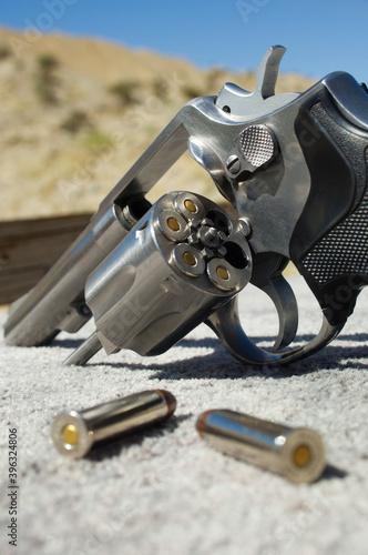 Gun range and guns concepts Fototapeta
