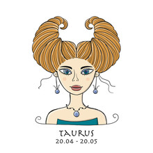 Illustration Of Taurus Zodiac ...