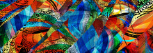 Beautiful Abstract Colorful Ge...