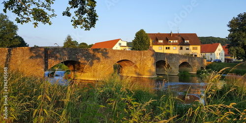 Photographie Tauberbrücke von Balthasar Neumann in Tauberrettersheim