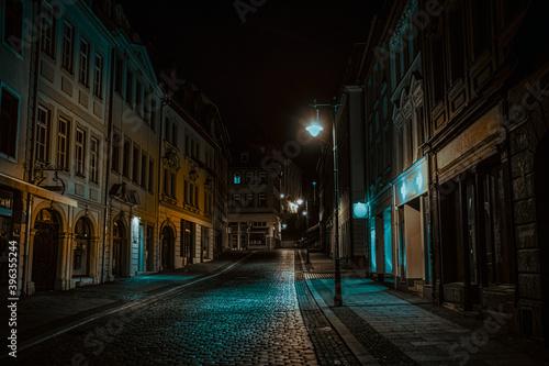 Night street of European city