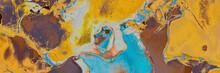Vibrant Artwork.  Watercolor Cream Background.