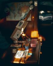 Artist's Table In The Sun Down Below In Yacht