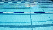 Empty Swimming Pool With Swim Lane Dividers