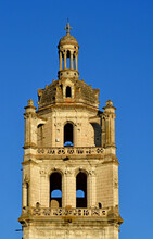 Loches; France - July 15 2020 : Saint Antoine Tower