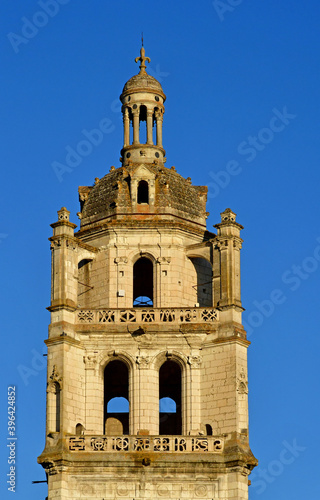 Fototapeta Loches; France - july 15 2020 : Saint Antoine tower