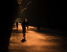 Silhouette Of Persons Running ...