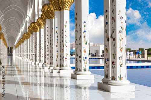 Fotografie, Obraz Sheikh Zayed Grand Mosque in Abu Dhabi