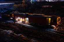 Special Train For Service, Maintenance And Repair Of The Railway At Night