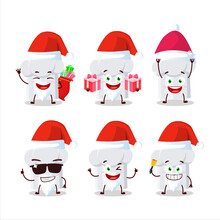 Santa Claus Emoticons With Chef Hat Cartoon Character